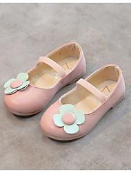 baratos -Para Meninas Sapatos Couro Ecológico Primavera Conforto Sapatos de Barco Flor para Ao ar livre Preto Azul Rosa claro