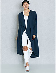 cheap -BENEVOGA Women's Sophisticated / Street chic Trench Coat - Solid Colored