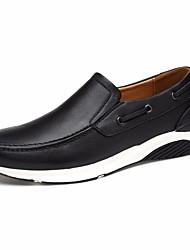povoljno -Muškarci Cipele Koža / Mekana koža Proljeće Udobne cipele Natikače i mokasinke Crn / Plava