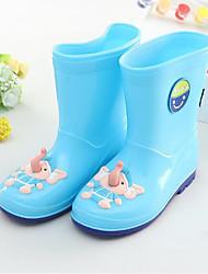 baratos -Para Meninas Sapatos PVC Verão Botas de Chuva Botas Estampa Animal para Amarelo / Vermelho / Azul