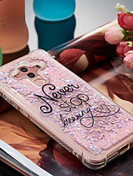 cheap -Case For Huawei Mate 10 pro / Mate 10 lite Shockproof / Flowing Liquid / Pattern Back Cover Word / Phrase Soft TPU for Mate 10 pro / Mate