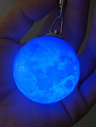 Недорогие -HKV 1шт 3D ночной свет RGB Украшение Безопасность Меняет цвета
