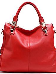 cheap -Women's Bags Genuine Leather / Cotton Tote Zipper Brown / Sky Blue / Royal Blue
