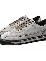Недорогие -Муж. обувь Замша Нубук Лето Удобная обувь Кеды для на открытом воздухе Черный Серый