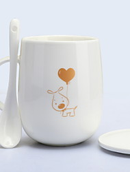 cheap -Drinkware Porcelain Mug Girlfriend Gift Boyfriend Gift Cartoon 1pcs