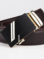 cheap -Men's Basic Waist Belt - Solid Colored Geometric