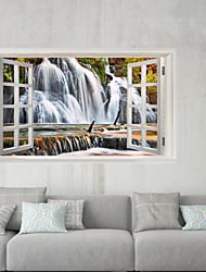 Недорогие -Декоративные наклейки на стены / Наклейки на холодильник - 3D наклейки Пейзаж / 3D Спальня / Кабинет / Офис