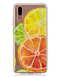 abordables -Coque Pour Huawei P20 / P20 lite Translucide Coque Fruit Flexible TPU pour Huawei P20 / Huawei P20 Pro / Huawei P20 lite