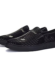 abordables -Homme Chaussures Polyuréthane Automne Confort Mocassins et Chaussons+D6148 Noir et Or Preto e Prateado