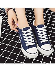 Недорогие -Жен. Обувь Полотно Осень Удобная обувь Кеды Микропоры Черный / Темно-синий / Красный