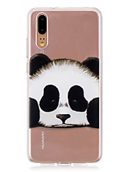 abordables -Coque Pour Huawei P20 / P20 lite Translucide Coque Panda Flexible TPU pour Huawei P20 / Huawei P20 Pro / Huawei P20 lite