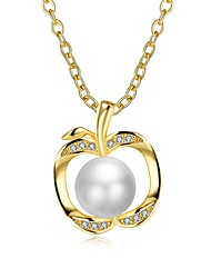cheap -Women's Cubic Zirconia Pendant Necklace  -  Pearl, Gold Plated, Freshwater Pearl Fashion Gold 50 cm Necklace For Gift, Daily