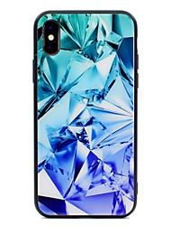 economico -Custodia Per Apple iPhone X / iPhone 8 Fantasia / disegno Per retro Geometrica Resistente Vetro temperato per iPhone X / iPhone 8 Plus /