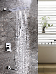 abordables -Grifo de ducha - Moderno Cromo Sistema ducha Válvula Cerámica