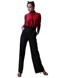 Недорогие -Латино Балетное трико / Топы Жен. Учебный Ice Silk (искусственное волокно) Стразы Длинный рукав трико / Комбинезон-пижама