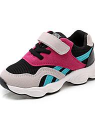 abordables -Garçon Chaussures Daim / Tulle Printemps été Confort Chaussures d'Athlétisme Course à Pied / Marche pour Bébé / Nourrisson Rouge / Bleu