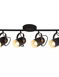abordables -QIHengZhaoMing 4 lumières Projecteur Lumière d'ambiance Finitions Peintes Métal 110-120V / 220-240V Blanc Crème Ampoule incluse