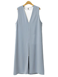 cheap -Women's Basic / Street chic Shift Dress - Solid Colored