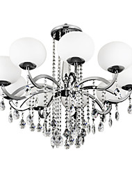 cheap -Lightinthebox 9-Light Candle-style Chandelier Uplight - Crystal, 110-120V / 220-240V Bulb Not Included / 20-30㎡ / E26 / E27