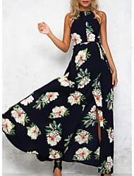 Недорогие -Жен. Оболочка Платье - Цветочный принт Макси
