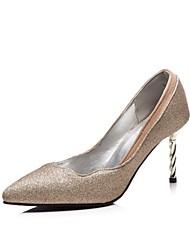 baratos -Mulheres Sapatos Couro Ecológico Primavera Verão Plataforma Básica Saltos Caminhada Salto Agulha Dedo Apontado para Festas & Noite / Ao