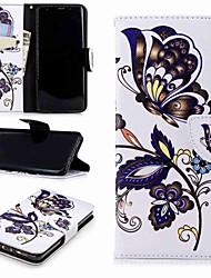 baratos -Capinha Para Samsung Galaxy S9 Plus / S8 Carteira / Porta-Cartão / Com Suporte Capa Proteção Completa Panda Rígida PU Leather para S9 / S8 Plus