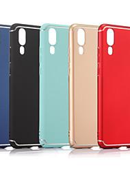 Недорогие -Кейс для Назначение Huawei P20 / P20 Pro Матовое Кейс на заднюю панель Однотонный Твердый ПК для Huawei P20 / Huawei P20 Pro / Huawei P20 lite