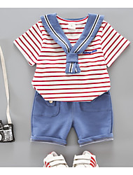cheap -Baby Boys' Striped Short Sleeve Clothing Set