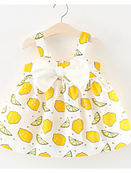 cheap -Baby Girls' Lemon Fruit Sleeveless Dress