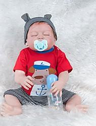 Недорогие -NPKCOLLECTION Куклы реборн Девочки 22 дюймовый Силикон - Новорожденный как живой Милый стиль Экологичные Подарок Безопасно для детей Детские Универсальные / Девочки Игрушки Подарок / Non Toxic