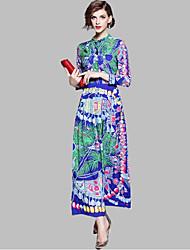 Недорогие -Жен. Классический С летящей юбкой Платье - Геометрический принт, С принтом Средней длины