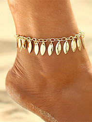 cheap -Geometric Anklet - Leaf Vintage, Bohemian, Fashion Gold For Gift / Bikini