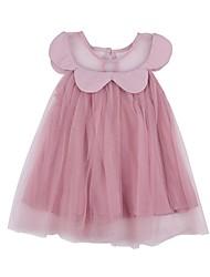 economico -Bambino (1-4 anni) Da ragazza In bianco e nero Tinta unita Senza maniche Vestito