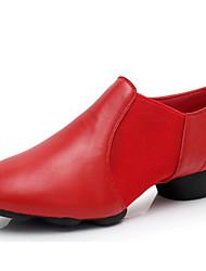 cheap -Women's Modern Shoes Cowhide Heel Performance / Practice Low Heel Dance Shoes Black / Red