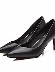 preiswerte -Damen Schuhe Leder / Nappaleder Frühling Sommer Pumps / Komfort High Heels Stöckelabsatz für Schwarz / Rot / Grün