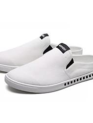 abordables -Homme Chaussures Tissu Automne Semelles Légères Sabot & Mules Rose et blanc / Noir / blanc / Blanc et vert