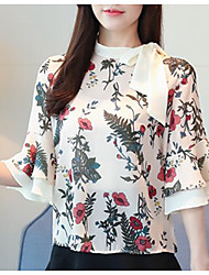abordables -Mujer Noche Blusa Floral