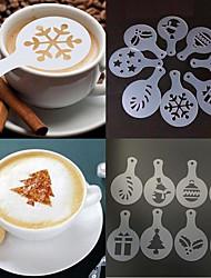 Недорогие -Рождественский кофе трафарет плесень капучино шоколадный торт распылитель