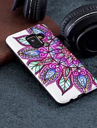 Недорогие -Кейс для Назначение SSamsung Galaxy A8 2018 / А5 (2018) С узором Кейс на заднюю панель Цветы Твердый ПК для A5(2018) / A3 (2017) / A5 (2017)