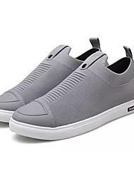 Недорогие -Муж. Тюль Осень Удобная обувь Кеды Черный / Серый / Красный
