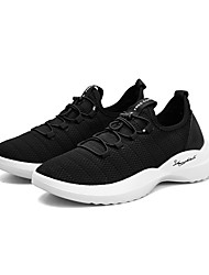 cheap -Men's Tulle Winter Comfort Athletic Shoes Walking Shoes Black / Gray