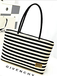 cheap -Women's Bags Canvas Tote Zipper for Outdoor Blue / Black