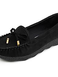 Недорогие -Жен. Обувь Кожа Весна лето Удобная обувь На плокой подошве На плоской подошве для Черный / Оранжевый / Серый