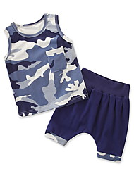 cheap -Kids / Toddler Boys' Solid Colored Sleeveless Clothing Set