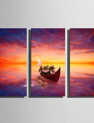 Недорогие -С картинкой Отпечатки на холсте - Пейзаж Морская тематика Modern