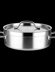 abordables -Casseroles Acier Inoxydable Rond Batteries de cuisine 1 pcs