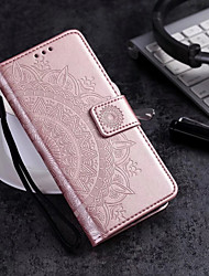 cheap -Case For Huawei P20 lite / Huawei P smart Wallet / Card Holder / Flip Full Body Cases Flower Hard PU Leather for Huawei P20 / Huawei P20 Pro / Huawei P20 lite