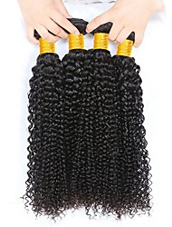 cheap -Malaysian Hair Curly Natural Color Hair Weaves / Human Hair Extensions 4 Bundles 8-28 inch Human Hair Weaves Capless Fashionable Design / Best Quality / Hot Sale Natural Black Human Hair Extensions