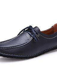 povoljno -Muškarci Cipele Koža Jesen Udobne cipele Oksfordice Hodanje Čizme gležnjače / do gležnja Crn / Dark Blue / Braon