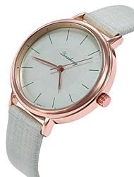 baratos -Mulheres Relógio de Pulso Relógio Casual / Adorável PU Banda Casual / Fashion Preta / Branco / Verde